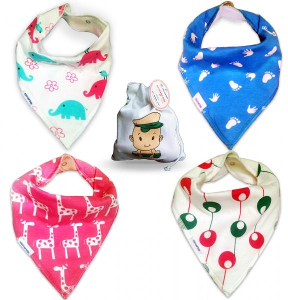 tiny captain baby bandana drool bibs for girls