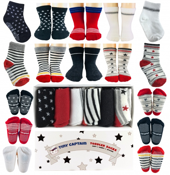 3 Pairs Unisex Christmas Cute Sock for 0-3 Years Boys and Girls Soft Cotton Socks MMTX Baby Slipper Socks Toddler Kids Anti-slip Floor Socks XS